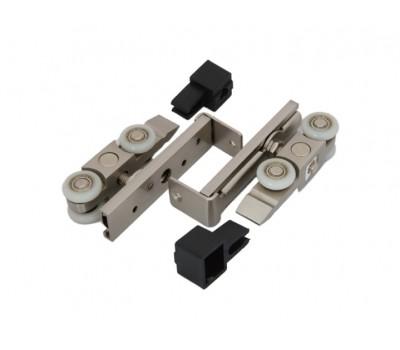 Комплект роликов  для раздвижных дверей /хром