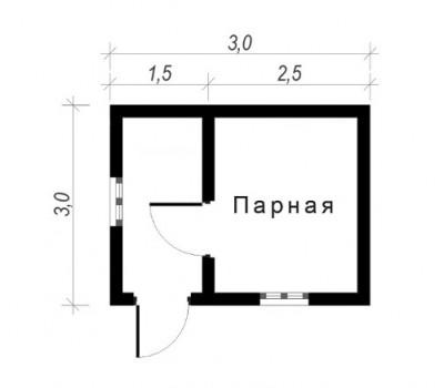 Баня 3*3м