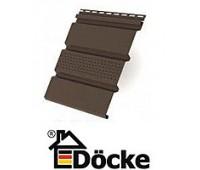 Соффит Т4 Docke (Дёке) ШОКОЛАД сплошной/с центральной перфорацией/перфорированный полностью