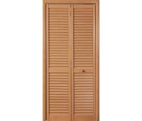 Дверь жалюзийная ПВХ 803*2000мм ДУБ СТАРЫЙ