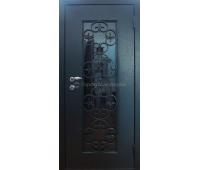 """Дверь металлическая """"Стеклопакет + Ковка"""""""