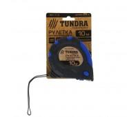 Рулетка TUNDRA comfort 10м*25мм/ 3 фиксатора /обрезиненный корпус