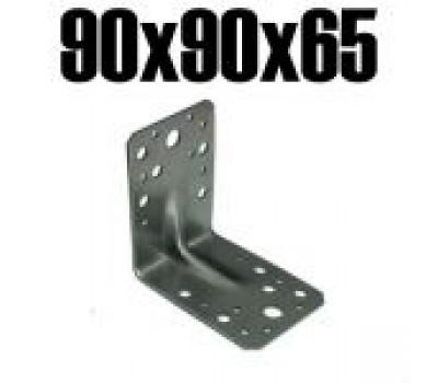 Крепёжный усиленный уголок 90*90*65*2мм/уп.50шт