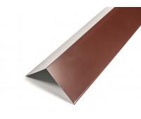 Планка конька (широкая) обычная плоская окрашенная 2м