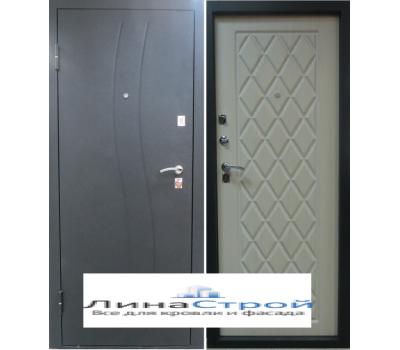 Дверь металлическая ВОДОЛЕЙ Беленый дуб (Шелк) ВОДОЛЕЙ Венге (Шелк)