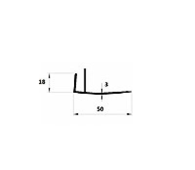 F профиль 18*50 (3мм)