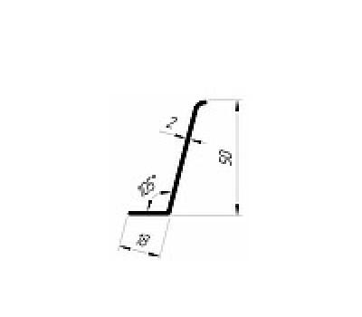 Уголок 50*18 (2мм) 105град.