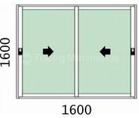 Лоджия 2-х створчатая 1600х1600