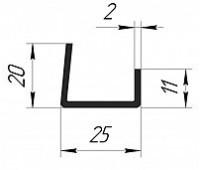 Стартовый профиль для подоконника 20*25*11 (2мм)