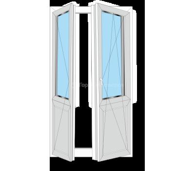 """Штульповая балконная дверь """"под ключ"""""""
