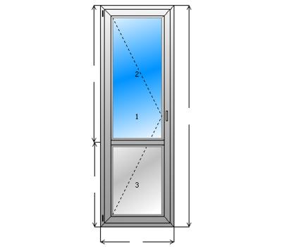 """Балконный дверь """"под ключ"""""""