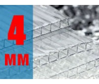 Поликарбонат АГРО 4мм прозрачный (0,6кг/м2)