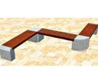 Скамейка №1 с двумя углами