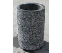 Урна бетонная цилиндрическая высокая 55*55*84см