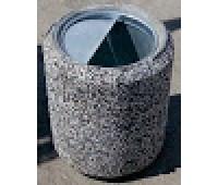 Урна бетонная цилиндрическая 38*38*44см