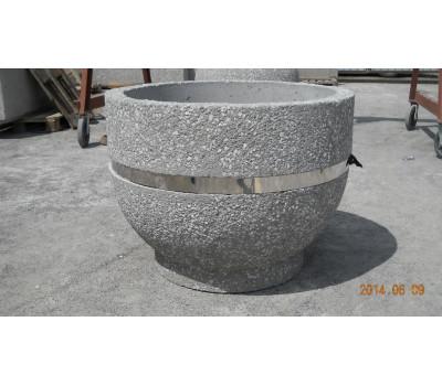 Вазон из бетона №12 БЕЗ ДНА