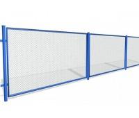 Заборные секции из сетки рабица, высота 1.5м