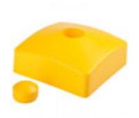 Заглушка пластиковая квадратная 90*90, наружная, с декоративным защитным колпачком.