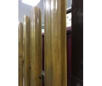 Металлический штакетник круглый фигурный GRAND LINE Golden Dub