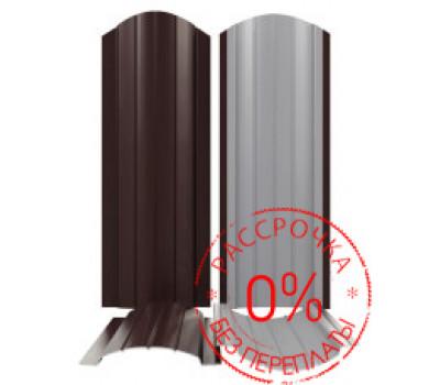 Металлоштакетник Полукруглый 110мм /нестандартный RAL
