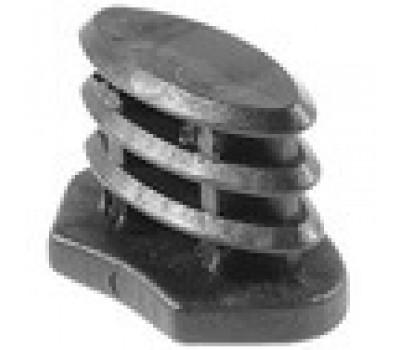 Заглушка эллипс 15*30 с выемкой /стенка 1,5-2мм