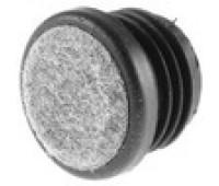Заглушка круглая D-30 с фетровой накладкой/ стенка 1,5-2,5мм