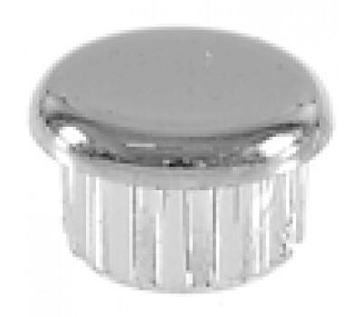 Заглушка круглая D-20 хромированная /стенка 1,2мм