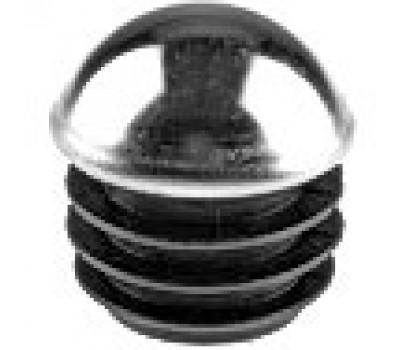 Заглушка круглая сферическая D-25 хромированная /стенка 1-2,5мм