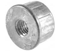 Заглушка стальная D-25 с мет.резьбой М10