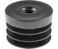 Заглушка  круглая D-35 с пласт.резьбой М8 /стенка 1-4мм