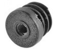 Заглушка  круглая D-25 с пласт.резьбой М8 /стенка 1,5-2,5мм