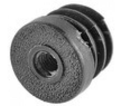 Заглушка  круглая D-32 с пласт.резьбой М8 /стенка 1-3,5мм