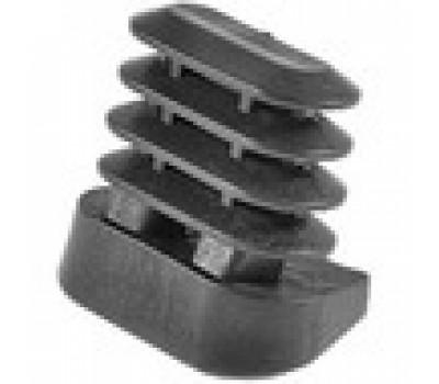 Заглушка овальная 15*30 под углом /стенка 1,5-2мм /Модель OIADI