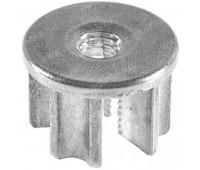 Заглушка стальная D-25 с мет.резьбой М8